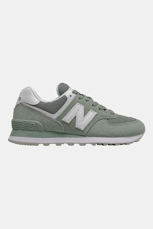 New Balance 574 Sneaker Dames Middenkaki/Wit