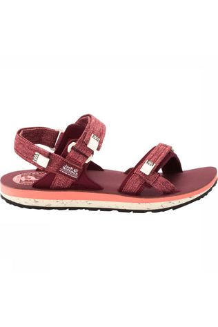 Jack Wolfskin Outfresh Deluxe Sandal Dames Donkerrood