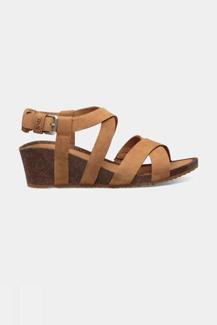 Teva Mahonia Wedge Cross Strap Sandaal Dames Bruin