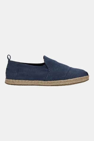 Toms Deconstructed Alpargata Rope Canvas Blauw