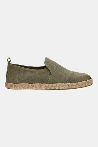 Toms Deconstructed Alpargata Rope Canvas Middengroen