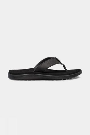Teva Voya Flip Leather Dames Zwart