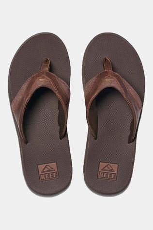 Reef Leather Fanning Slipper  Bruin