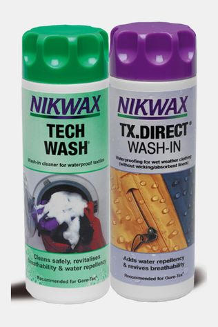 Nikwax Tech Wash & Direct Wash-in Twin Pack Geen Kleur