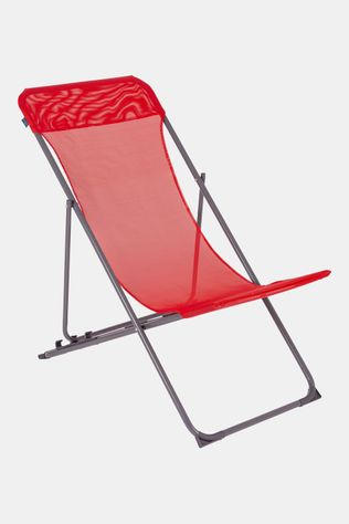 Bo-Camp Beach Chair Flat - 3 standen - Oxford Polyester Rood
