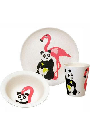 Zuperzozial Hungry Flamingo Set Wit/Middenroze