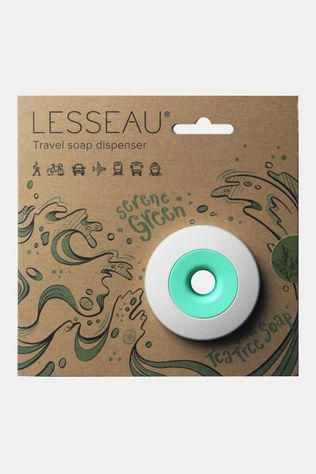 LESSEAU Travel Soap Dispenser Serene Green and Tea Tree Soap Groen