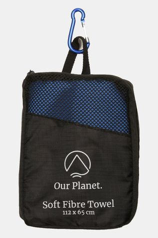 Our Planet Soft Fibre (112X56) Handdoek Koningsblauw