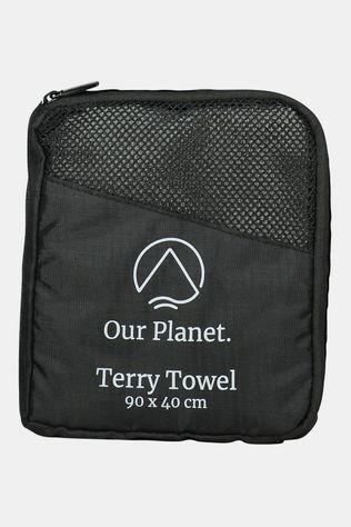 Our Planet Terry Towel 90x40 Handdoek Middengrijs