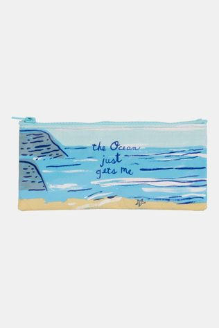 Blue Q Pencil Case Ocean Gets Me Etui Lichtblauw/Middenblauw