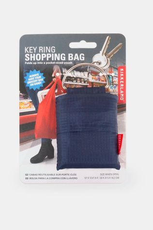 Kikkerland Key Ring Shopping Bag Blauw  Donkerblauw