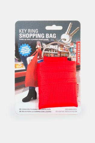 Kikkerland Key Ring Shopping Bag Rood Rood