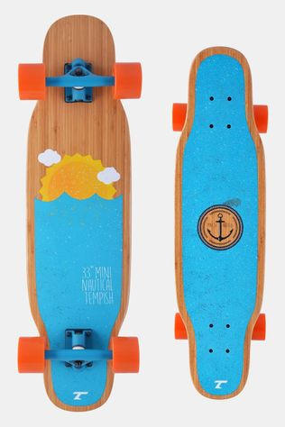"Tempish Mini Nautical 33"" Longboard Blauw/Oranje"