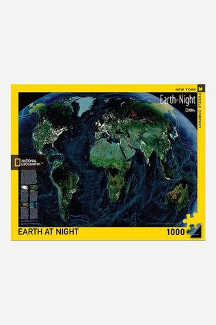New York Puzzle Company Puzzel Earth At Night Geen Kleur