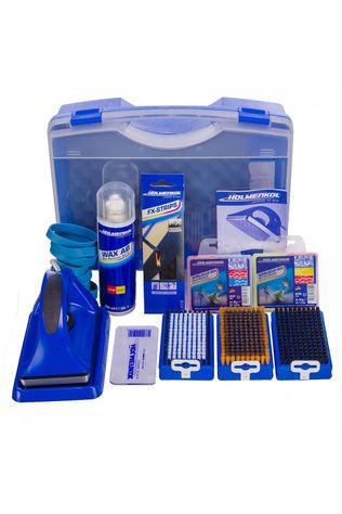 Holmenkol Smart Waxer Set Blauw/Wit