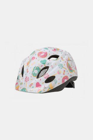 Polisport Helm Lollipops Wit XS 48-52 Junior Wit/Lichtroze
