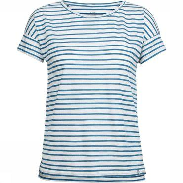 Aria SS Scoop Pulled Lines T-shirt Dames