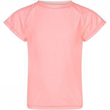 Neon Coral SS Rash Top Junior