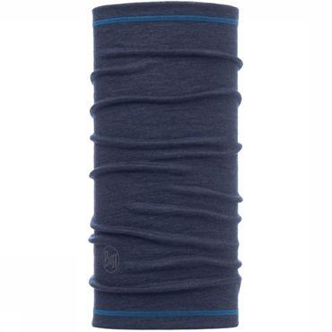 3/4 Merino Wol Solid Denim Buff
