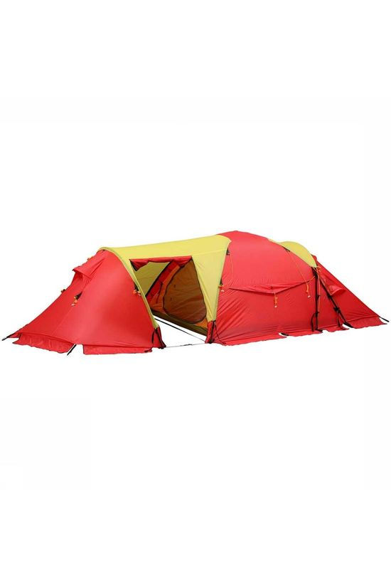 Helsport Tent Svalbard High Camp 3P Hybride tent Rood/Geel