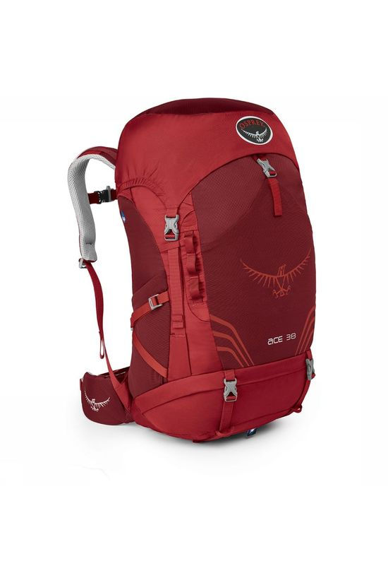 Osprey Ace 38 Kids Rugzak Middenrood