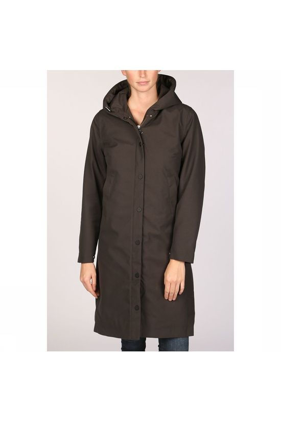 Welter Shelter Not So Long Tube Spoiler Parka Dames Donkerkaki/Middenkaki