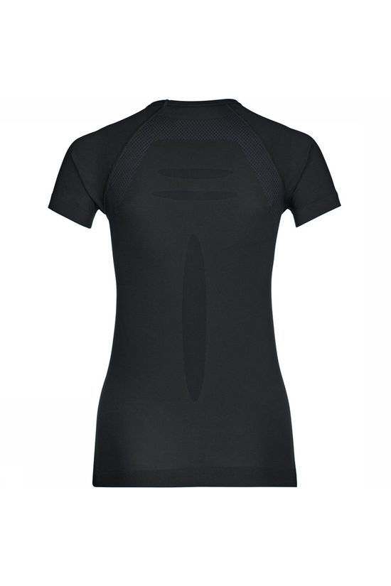 Vaude Seamless Light Shirt Dames Zwart/Donkergrijs
