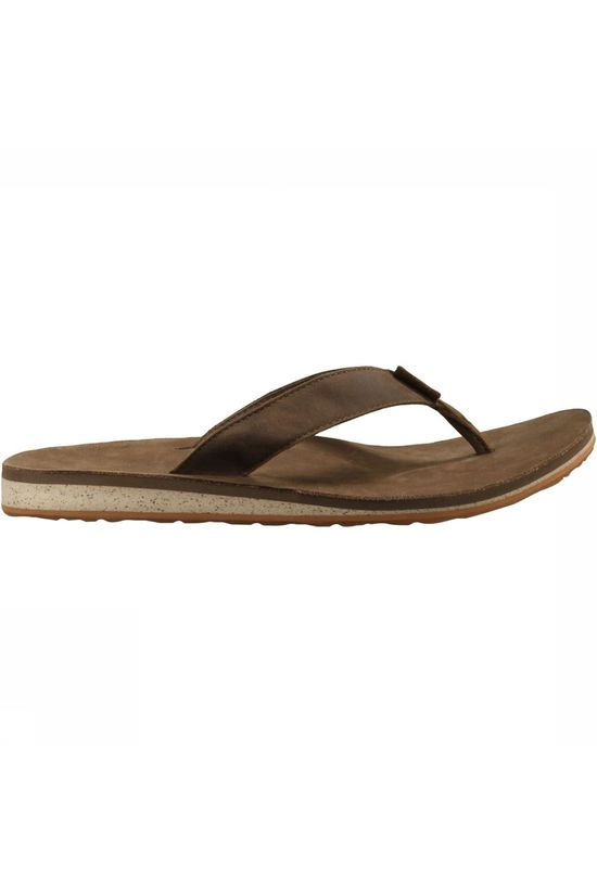 Teva Classic Flip Premium Leather Slipper Bruin