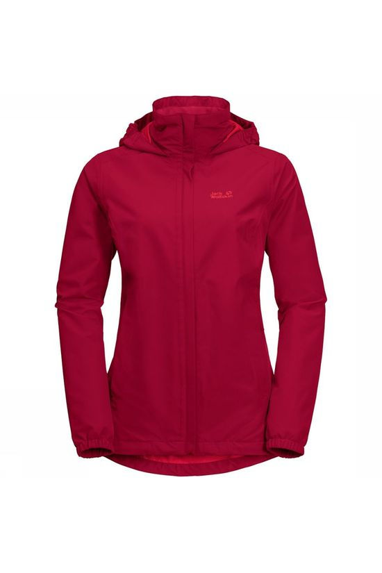 Jack Wolfskin Stormy Point Jas Dames Middenrood