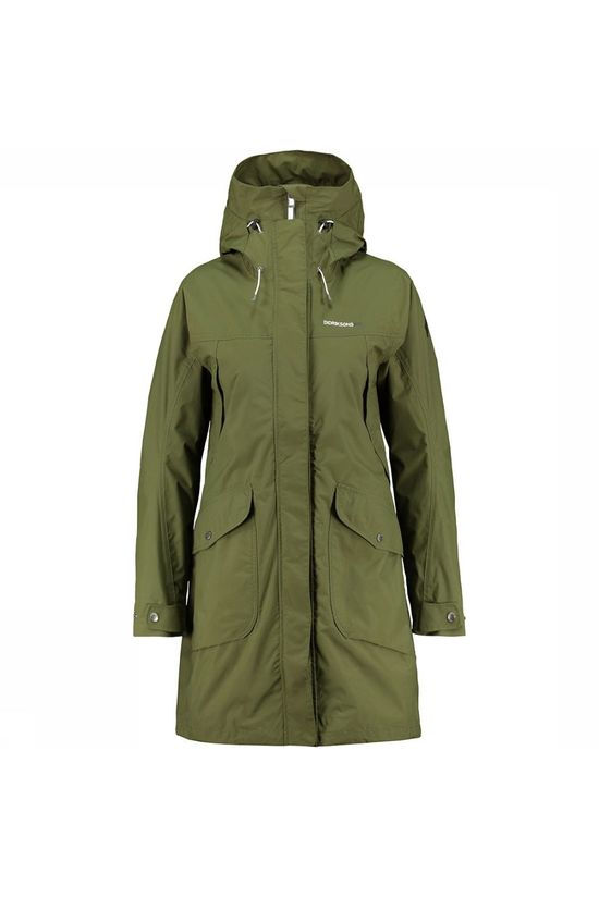 Didriksons 1913 Thelma Parka Dames Middengroen