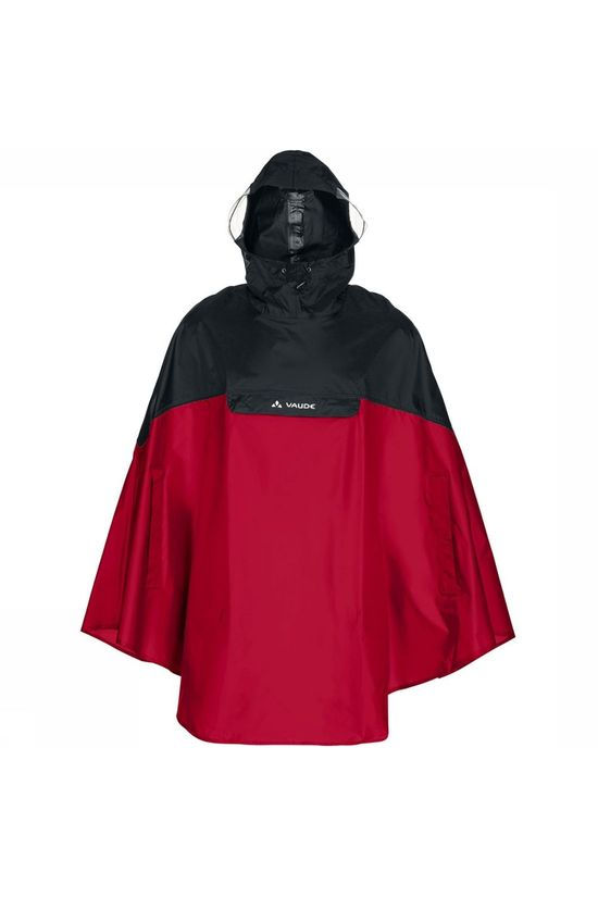 Vaude Poncho Covero Rood/Middenrood