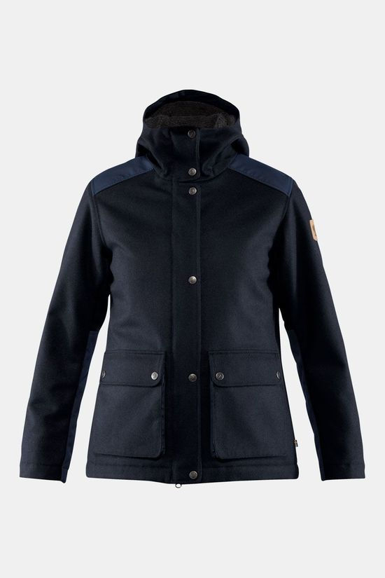 Fjällräven Greenland Re-Wool Jas Dames Donkerblauw