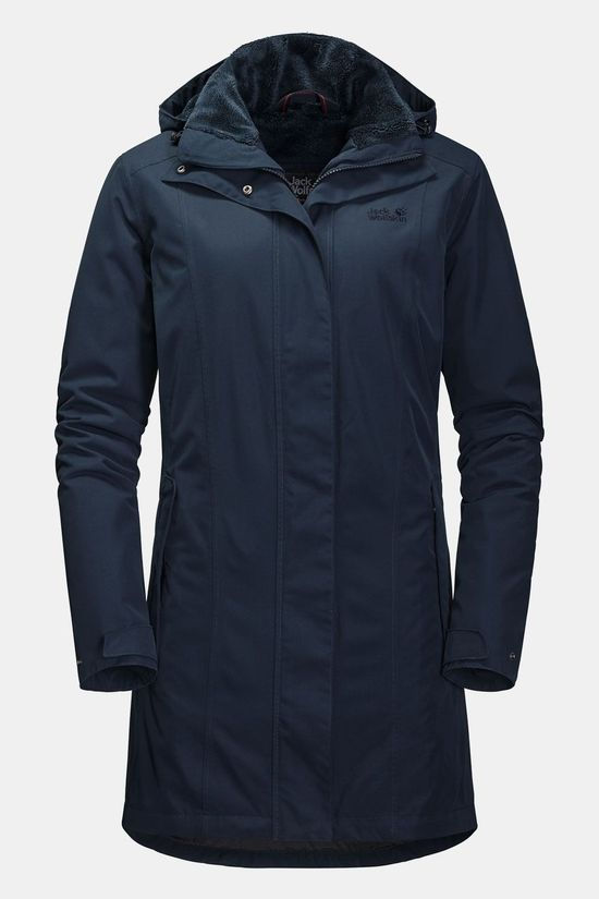 Jack Wolfskin Madison Avenue Parka Dames Marineblauw