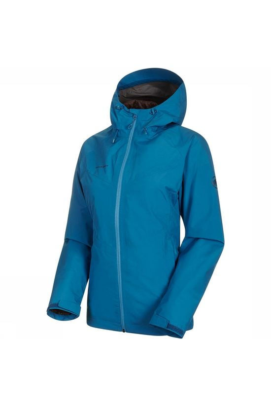 Mammut Convey 3-in-1 HS Hooded Jas Dames Blauw/Donkerbruin