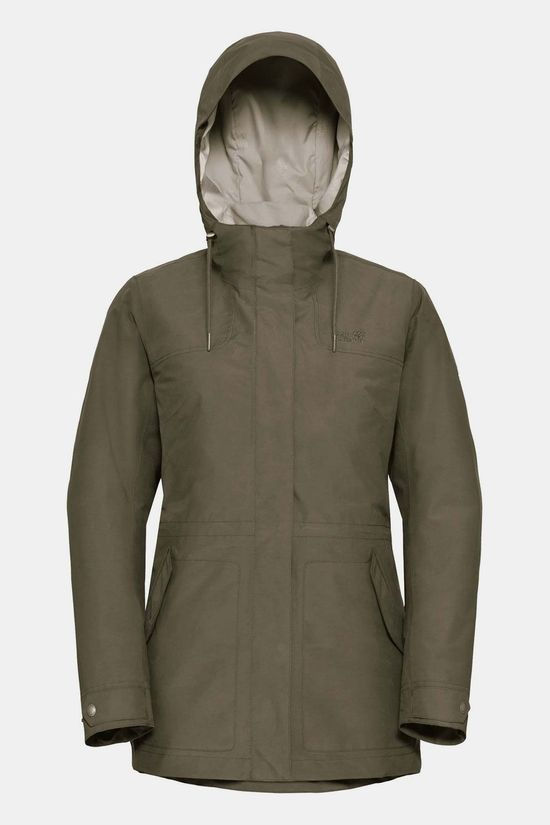 Jack Wolfskin Rock Island 3-in-1 Parka Dames Taupe