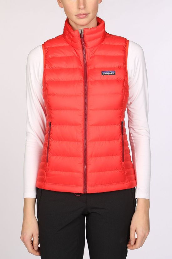 Patagonia Down Sweater Bodywarmer Dames Rood