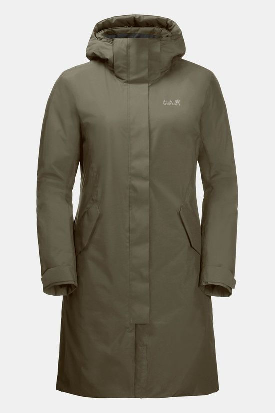 Jack Wolfskin Cold Bay Waterdichte Donsparka Dames Taupe