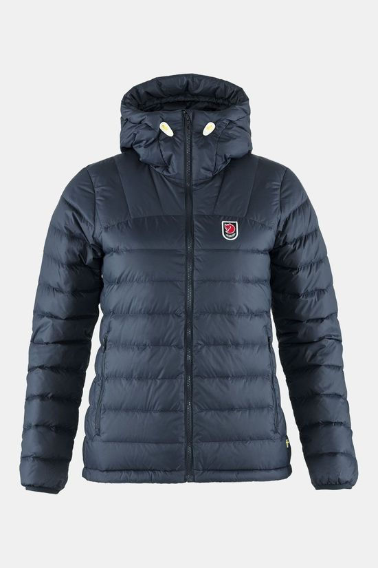 Fjällräven Expedition Pack Down Hoodie Jas Dames Marineblauw