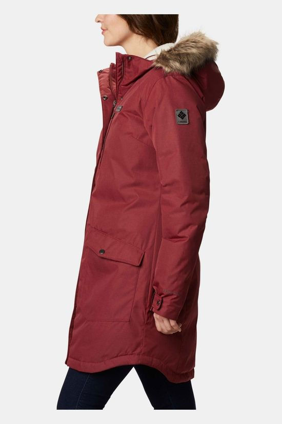 Columbia Suttle Mountain Long Insulated Jas Dames Bordeaux / Kastanjebruin