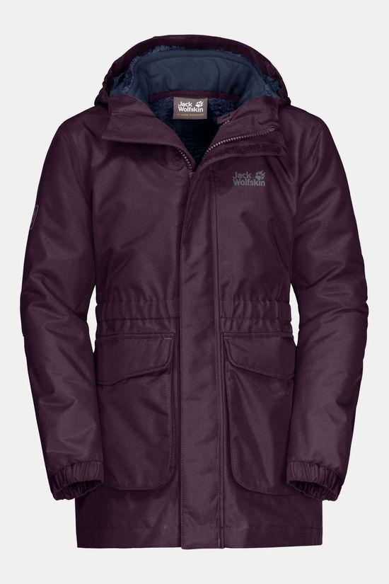 Jack Wolfskin Ice Cave 3-In-1 Jas Junior Aubergine