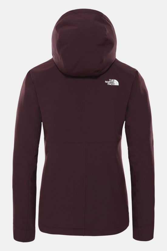 The North Face Shelbe Raschel Softshell Hoodie Dames Aubergine