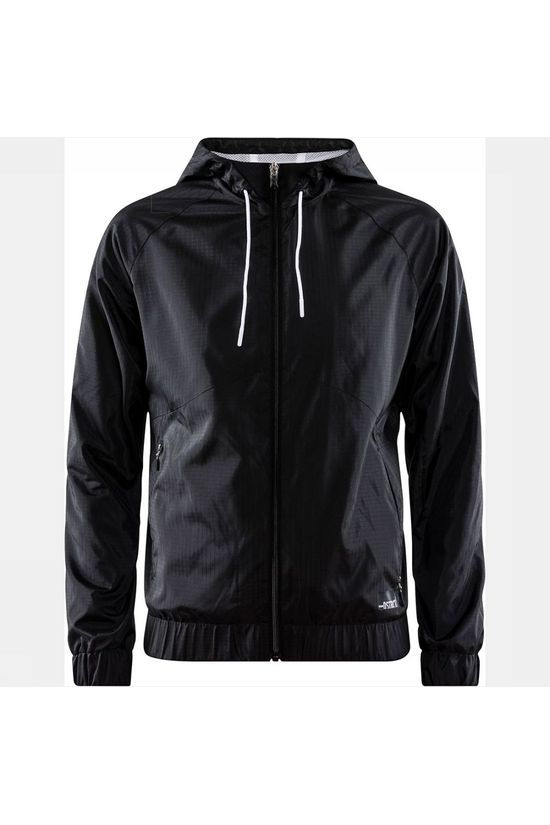 Craft District Windbreaker Jas Dames Zwart