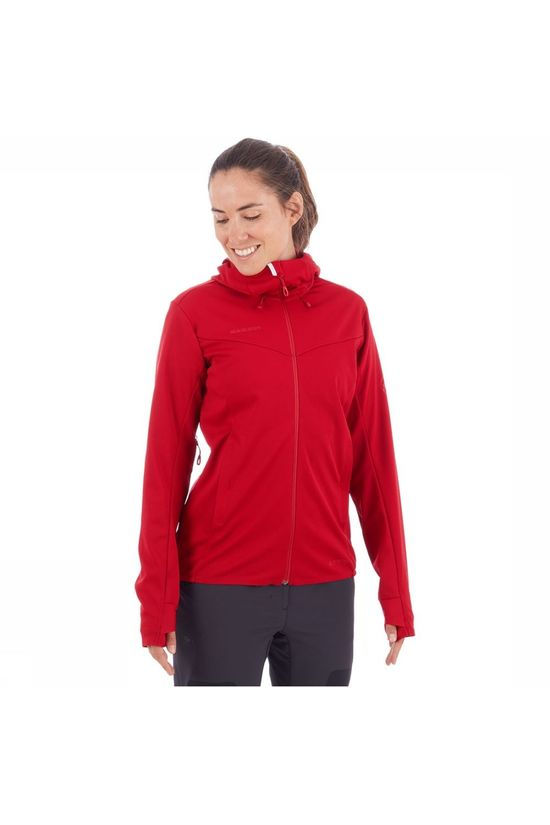 Mammut Ultimate V SO Hooded Jas Dames Rood/Middenroze
