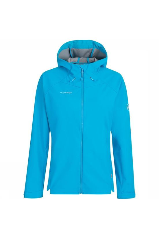 Mammut Sapuen SO Hooded Softshell Jas Dames Lichtblauw
