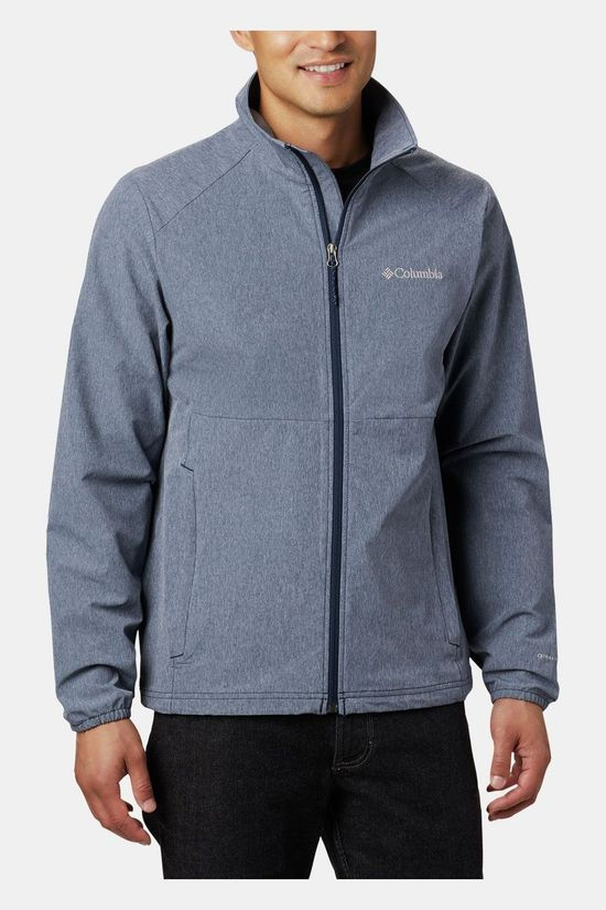 Columbia Heather Canyon Non-Hooded Jas Donkerblauw/Lichtgrijs Mengeling