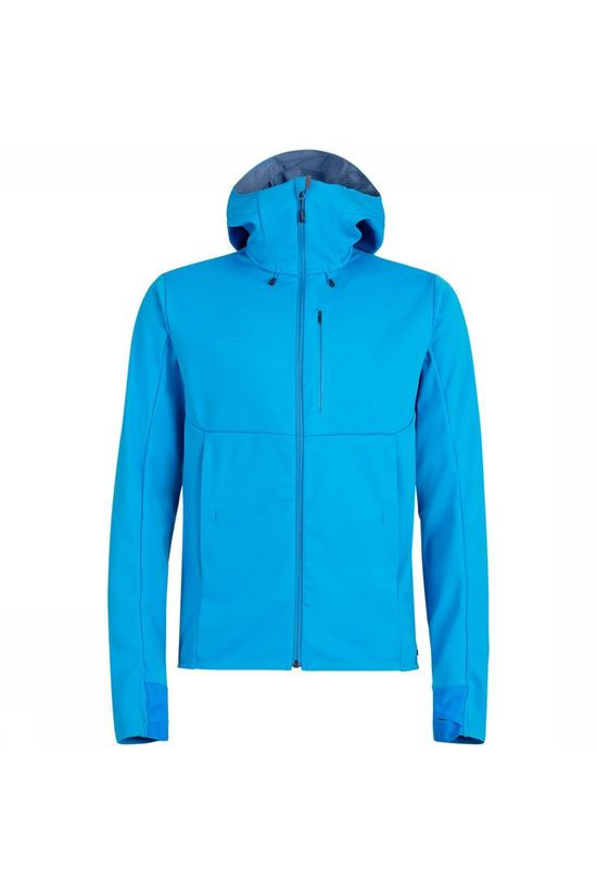 Mammut Ultimate V SO Hooded Jas Blauw