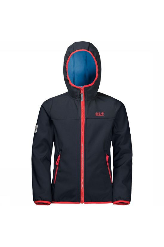 Jack Wolfskin Fourwinds Softshell Jas Junior Donkerblauw/Marineblauw