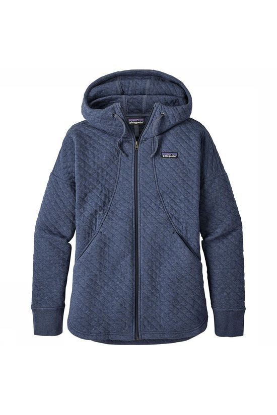 Patagonia Organic Cotton Quilt Hoody Vest Dames Middenblauw