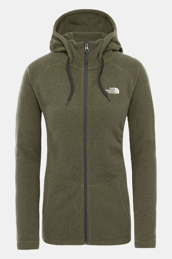 The North Face Mezzaluna Full Zip Hoodie Dames Middenkaki/Gebroken Wit