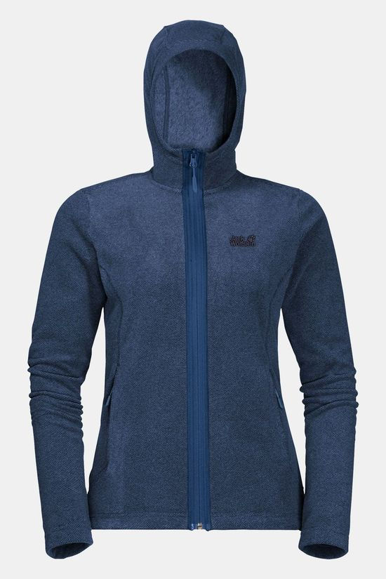 Jack Wolfskin Skywind Hooded Vest Dames Middenblauw